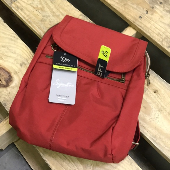 99cae634122 Travelon Anti-Theft Signature Slim Backpack. M 5a943ec705f430ceb0a871ee